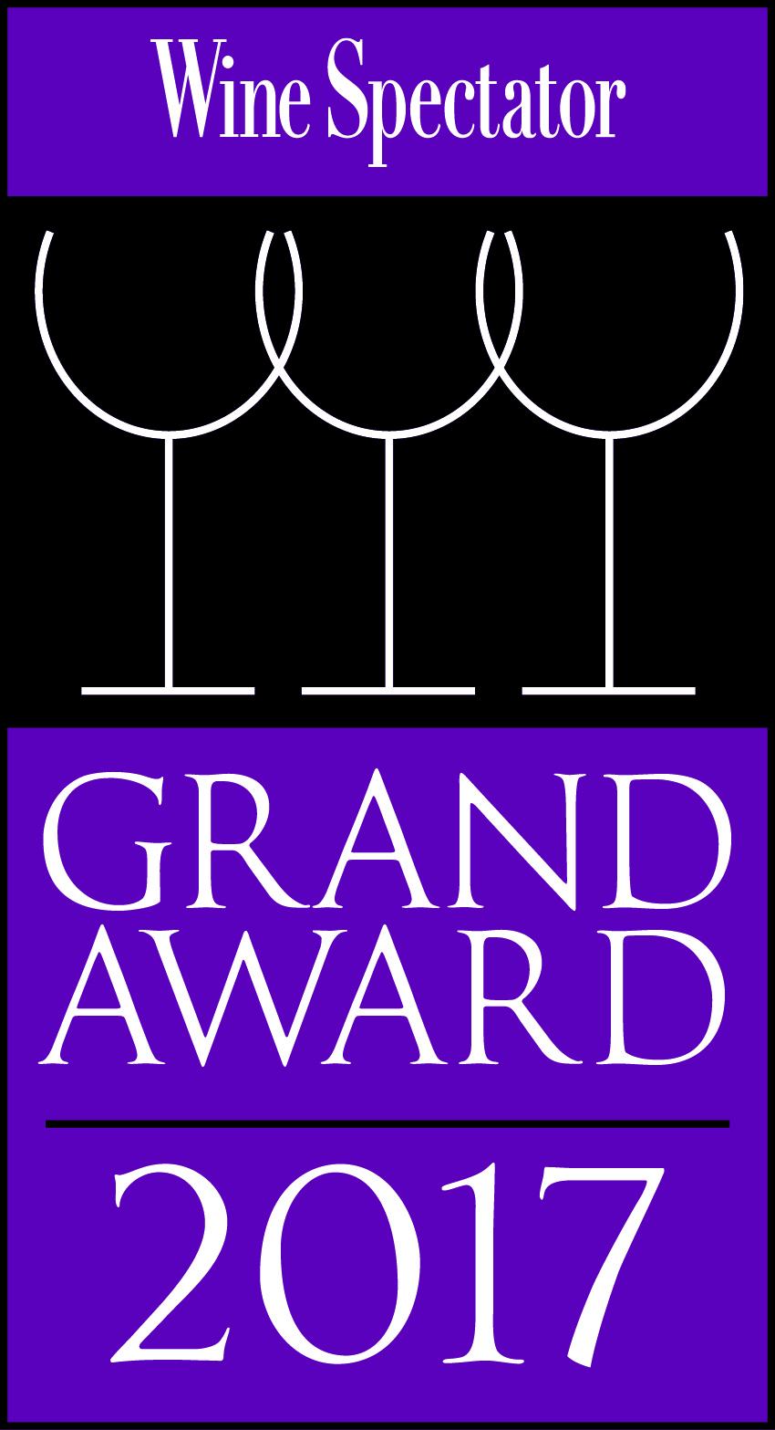 Wine Spectator Grand Award 2017