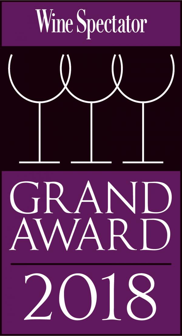 Wine Spectator Grand Award 2018